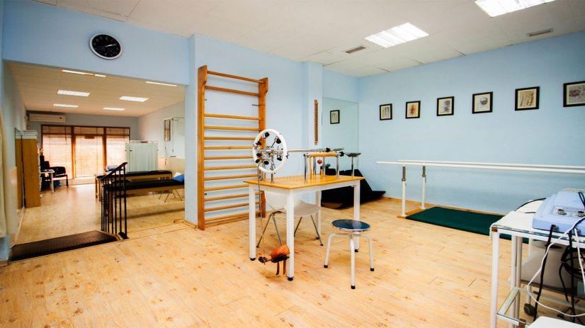 Sala rehabilitación y fisioterapia Clínica Abla